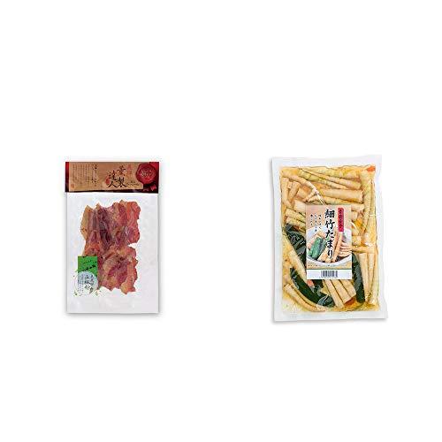 [2点セット] 薫製達人 豚バラベーコン燻製(60g)[飛騨山椒付き]・青唐辛子 細竹たまり(330g)