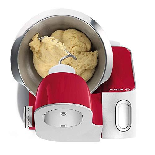 Bosch Planetaria Robot da Cucina, Ciotola in Acciaio da 3.9 L, 7 Velocità, 1000 W, Rosso