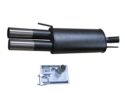 SPORT Escape–Silenciador trasero con ABE/EG operativo permiso en 2x 76mm de Super Sport