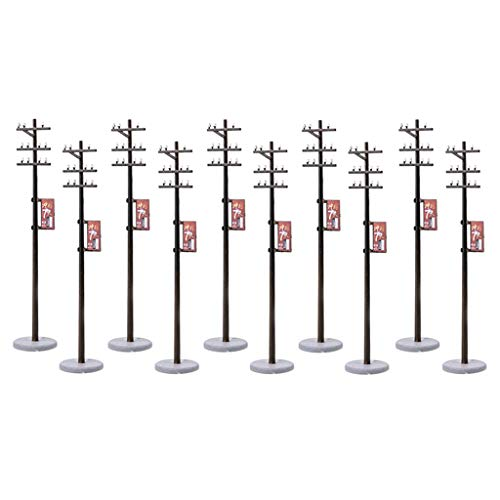 Injoyo 10PCS 1/87 Poste De Línea Eléctrica para Kits De Construcción De...