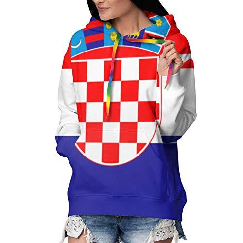 NA Athletic Kapuzenpullover, Kapuzenpullover, Outwear, Tunika, Tops für Frauen und Mädchen XXL Flagge Kroatien