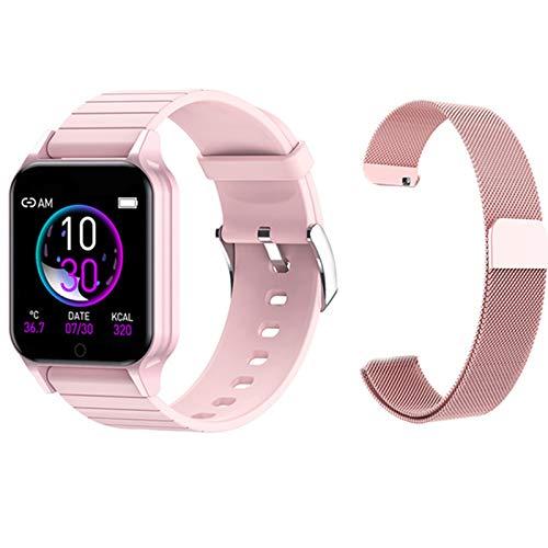 hgfhgf Reloj Inteligente De Mujeres Nuevas, Reloj De Fitness De Ritmo Cardíaco, Reloj De Escritorio, Reloj Inteligente para Android iOS,A