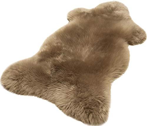 Australisches Lammfell taupe (grau braun) echtes Fell