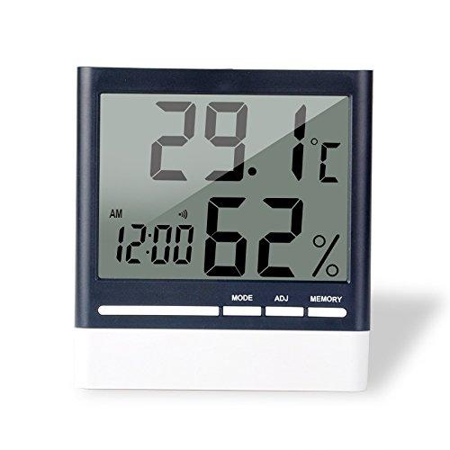Innen Thermometer Hygrometer, Digitales Thermo-Hygrometer mit Großer LCD Bildschirm für Hause, Lager, Büro, Autos und Weinkeller (#1)