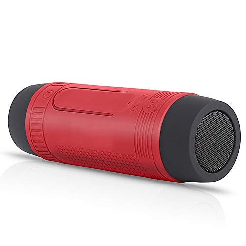 CHYSP Bluetooth tragbarer Lautsprecher mit Lichtern Wasserdichtes Outdoor-Fahrrad Drahtloses Subwoofer-Radio 4000mAh Power Bank Column (Color : C)