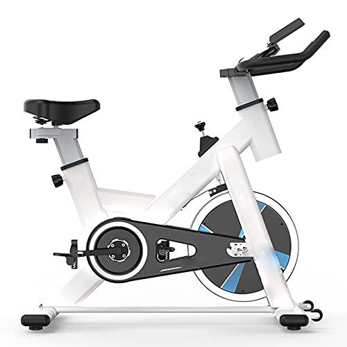 CJDM Bicicleta silenciosa para el hogar, Bicicleta de Ejercicio para el hogar, Bicicleta de Ejercicio aeróbica, Bicicleta de Spinning Blanca, Equipo de Ejercicio para Empresa de Gimnasia