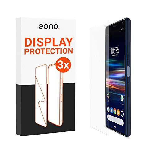 Amazon Brand – Eono Panzerglas kompatibel mit Xperia 1 - HD Schutzglas gegen Bildschirmbruch, Kratzer - Hüllenfre&lich, 2.5D, 9H Stärke - 3 Stück