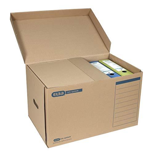 "Elba 100421143 Systemcontainer ""tric system"" mit Klappdeckel, 10 Stück, naturbraun - 3"