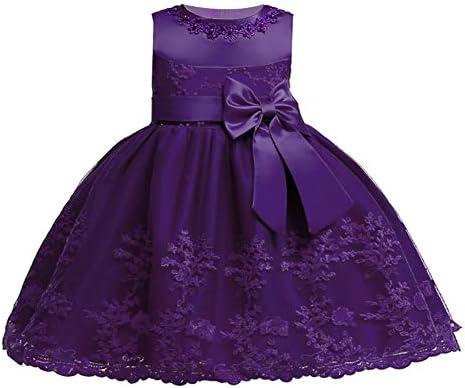 LZH Baby Girls Birthday Dress Formal Wedding Party Flower Dress for Toddler 8135 Dark Purple product image