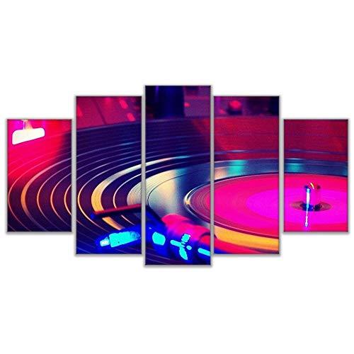 YB Wandkunst Canvas HD Prints Schilderen DJ Muziek-instrument platenspeler Poster Wooncultuur Turn Tafel Afbeeldingen 30x45cm 30x60cm 30x75cm Kein Rahmen