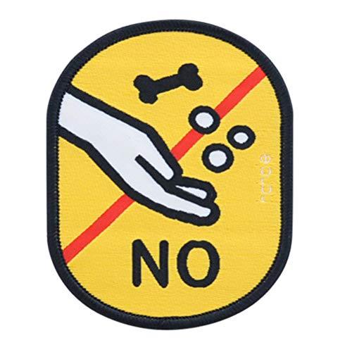 Não alimentar o significado Etiqueta de identificação do logotipo social Leash Lembrete de decalques para cachorrinho de estimação
