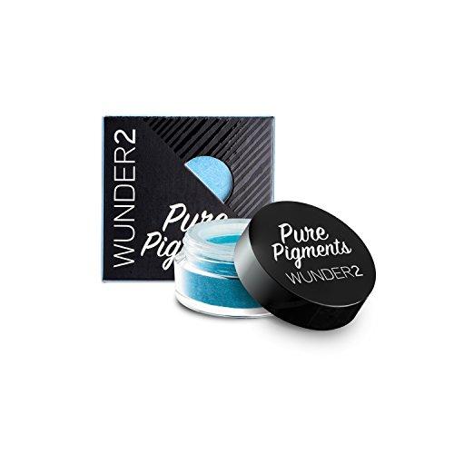 WUNDER2 PURE PIGMENTS Pigments Purs Colorés - Pigments Libres Colorés Maquillage des Yeux, Teinte Maldives Blue