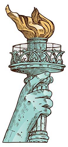 Wandtattoo USA Wandsticker Fackel mit Hand der Freiheitsstatue Wandtattoo zum K