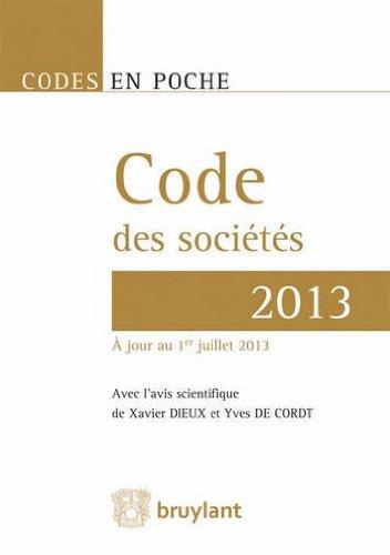 Code des sociétés 2013