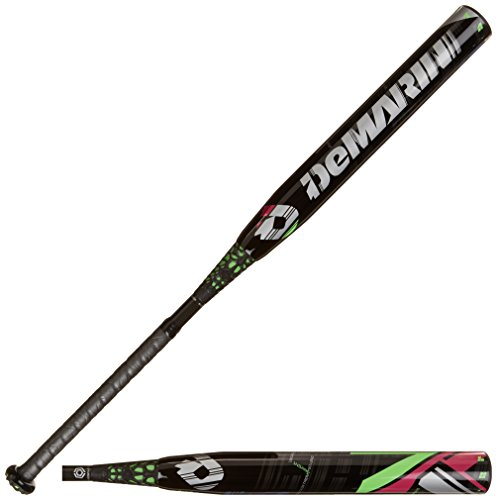 DeMarini CF7 Insane -10 Fastpitch Baseball Bat, Black/Green, 34-Inch/24-Ounce