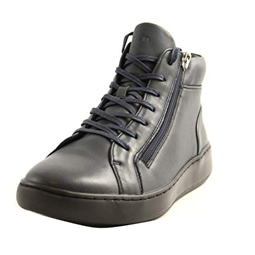 Calvin Klein B4F1165 Dark Navy - Zapatillas Altas para Hombre, de Piel, Color Azul Oscuro Azul Size: 45 EU