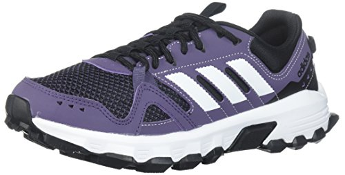 adidas Women's Rockadia w Trail Running Shoe, Trace Purple/White/Core Black, 6 M US