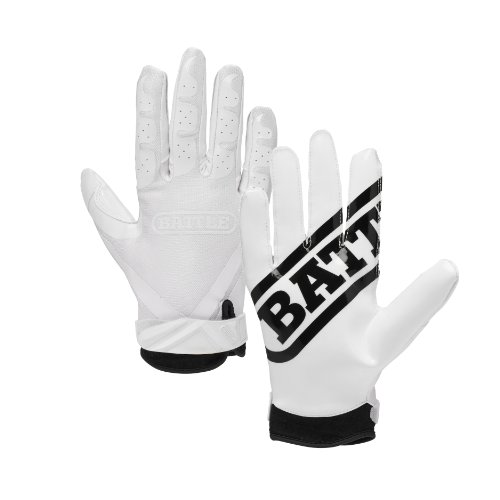 Battle Ultra-Stick Football Gloves – Ultra-Tack Sticky Palm...