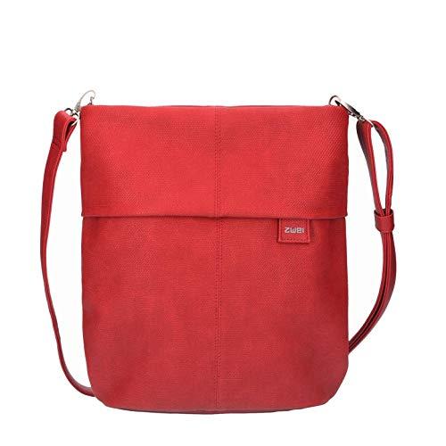 zwei Mademoiselle M12 Umhängetasche 32 cm Canvas-red