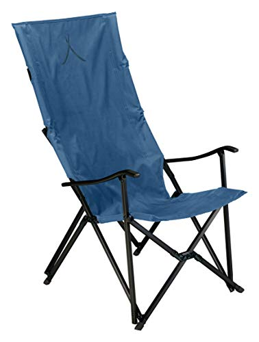 Grand Canyon EL Tovar HIGHBACK - Campingstuhl, Klappstuhl mit Armlehne & hoher Rückenlehne - bis 100 kg - Aluminium - Dark Blue (blau)