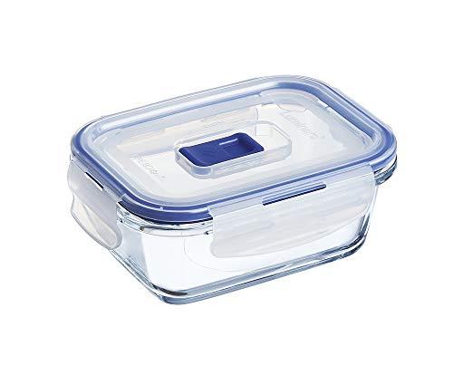 Luminarc 9207679 Pure Box Active - Recipiente Hermetico Rectangular, Vidrio, 0.38 L