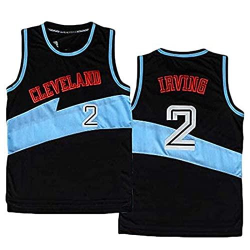 XSJY Jerseys De Baloncesto De Los Hombres - NBA Cleveland Cavaliers # 2 Kyrie Irving Swingman Edition Mesh Jersey Unisex Unisex Sin Mangas Vest Top Sportwear,B,XL:180~185cm/85~95kg