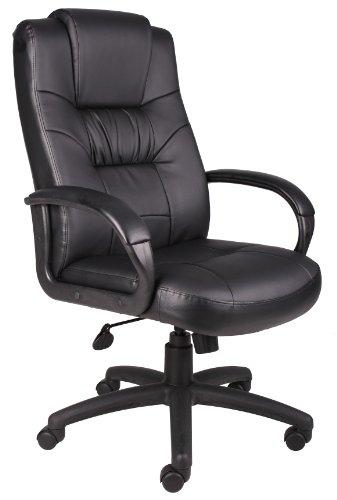 Baldessarini BOSS Office Products b7501mit Bürostuhl Chefsessel mit hoher Rückenlehne Leder Stuhl in schwarz