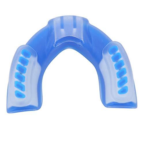 VGEBY Gum Shield, cómodos Protectores bucales Deportivos para niños, Suave protección Dental para niños, para Sanda, Boxeo, Rugby, Baloncesto, MMA, Artes Marciales (S)(Azul)