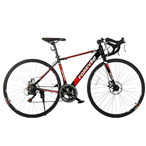 NENGGE 14 Speed Road Bike, 27 Inch Adult Disc Brakes Lichtgewicht Aluminium Road Bike, Verstelbare Zit & Stuur, 700 * 25C Wielen