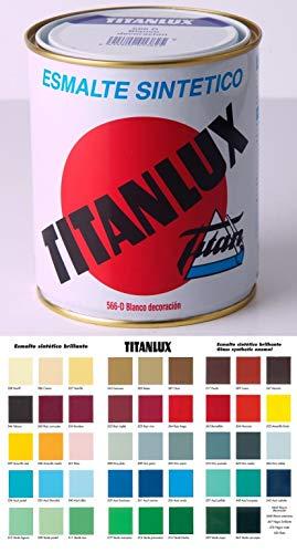 Esmalte Sintetico Titanlux color rojo ingles codigo 555