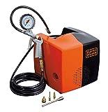 Black+Decker 8215340BND701 Compressore d'Aria, 230 V, Nero/Arancione, BD 195 CUBO, 180 lit...