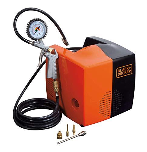 Black+Decker 8215340BND701 Compressore d'Aria, 230 V, Nero/Arancione, BD 195 CUBO, 180 litri/min