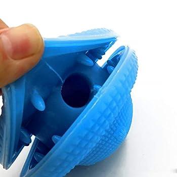 Hengshang Boule de Jouet pour Chiot, Caoutchouc Naturel, Distributeur de Nourriture pour Animaux de Table remplissable, Soins dentaires et Plaisir de mâcher (10 * 8 * 10 cm)