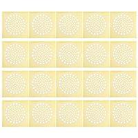 OUNONA 50個ヘアキャッチャー正方形のヘアドレンカバーシャワー排水髪ストッパー床フィルターステッカー浴室浴槽キッチンシンク