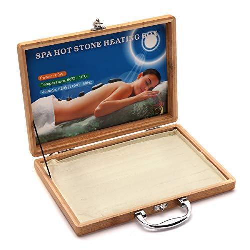 Caja de calentador de masaje con piedras calientes para lava SPA Rock Basalt Stones Body SPA