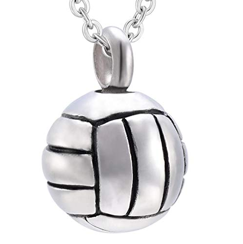 yyygg Urn Necklace For Ashes Stainless Steel Tennis Ball Men Women Memories Keepsake Cremation Ashes Urn Necklace Pendant Jewelry Funeral Urn
