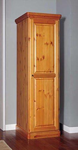 Arredamenti Rustici Armario 1 Puerta De Madera Pino Macizo Color Miel Amazon Es Hogar