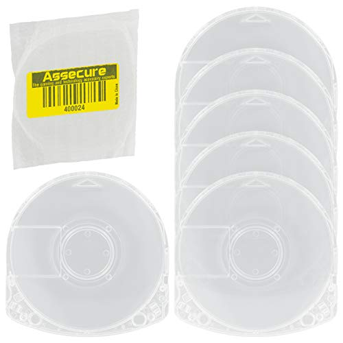 Assecure 6 x Replacement PSP Umd Game Crystal Clear Case Shell For Sony PSP...