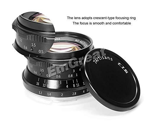 LRLRLQQ 7artisans 35mm F1.2 Prime Objektiv für Sony E-Mount/für Fuji XF APS-C spiegellose Kamera Handbuch Fokus Festobjektiv A6500 A6300 X-A1 Fuji Objektiv mit Kit