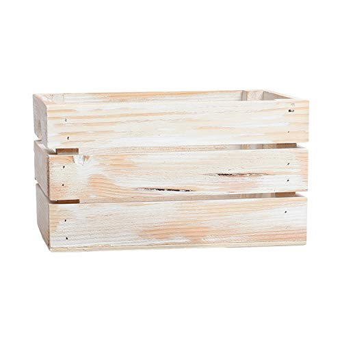 At Home on Main Handcrafted Rustic Crates - Small (White)