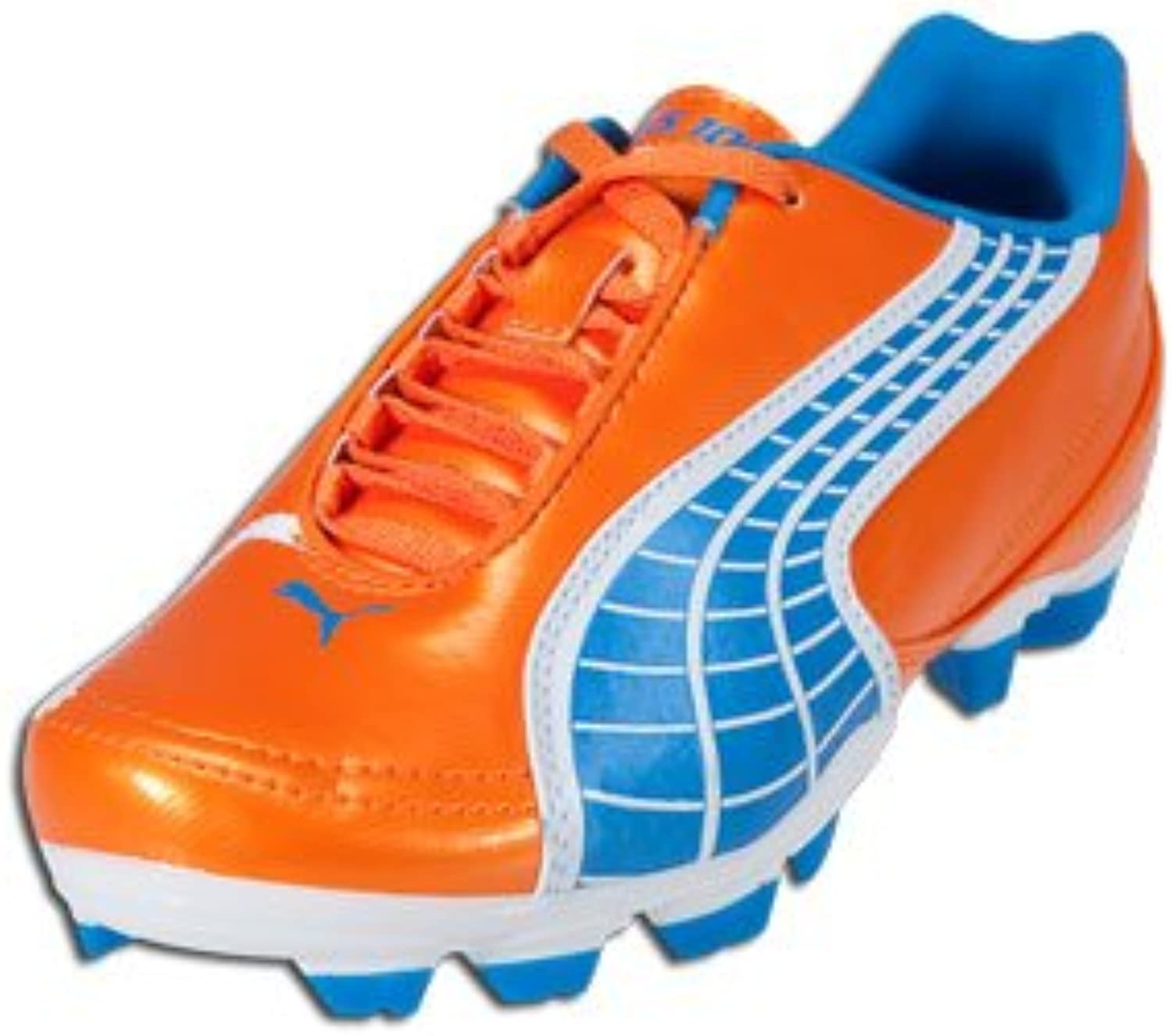 PUMA Kid's V5.10 II FG Pre Grd (orange blueee White)