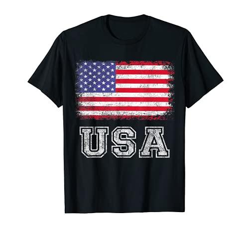 American Flag T Shirt USA Patriotic For US Men Women Kids T-Sh