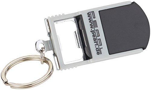 PEARL Handyhalter Tisch: 3in1-Schlüsselanhänger: Smartphone-Ständer, Leuchte & Flaschenöffner (Schlüssellampe)