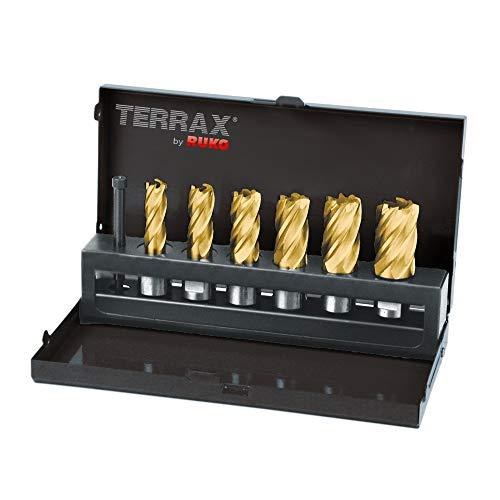 Terrax A108820T 7-teiliges Set Bohrkrone Tin Ø 12–22mm