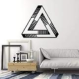 Calcomanía de pared con forma de ilusión óptica, elemento geométrico, pegatinas de ventana, dormitorio, sala de estar, decoración creativa para el hogar, Mural A8 57x65cm
