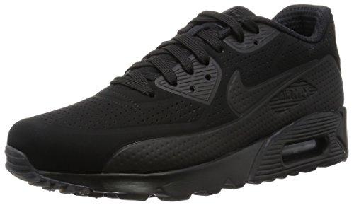 Nike Herren Air Max 90 Ultra Moire Laufschuhe, Nero/Bianco (Nero/Nero-Bianco), 42.5 EU