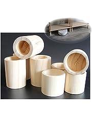 4 × Meubelverhogers Bedverhogers/Lift Bed Risers, Stoel Tafel Bureau Bank Bank Massief Houten Verhogers Liften, Hefhoogte 10cm - Cilindrisch