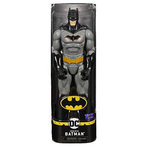 DC Comics BATMAN Personaggio da 30 cm Articolato, Versione Grigio/Nero, dai 3 Anni, 6056680