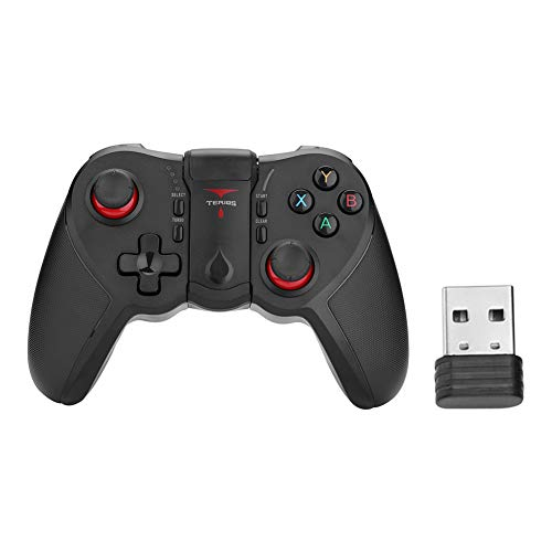 Homelectric Inc Controlador de Juegos T12 Bluetooth Gamepad con Adaptador USB para teléfono Tablet PC