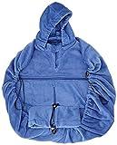 HOPPEDIZ Fleece-Cover Basic - wärmendes Tragecover für Tragehilfen - Blau (Marine)